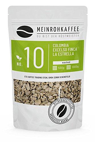 Rohkaffee - Colombia Excelso La Estrella (grüne Kaffeebohnen) - vollmundig, starker Körper und leichte Fruchtnote - 500g