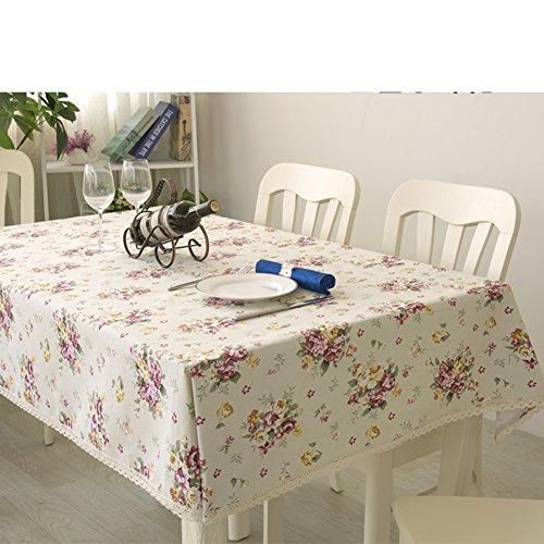 Tischdecken/Tuch/ moderne minimalistische Tischdecke/Baumwolle Tischtuch/Tischdecke decke/ pastoralen Stil Tischdecke/Wohnzimmer Couchtisch quadratisch Tischdecken-A 145x240cm(57x94inch)