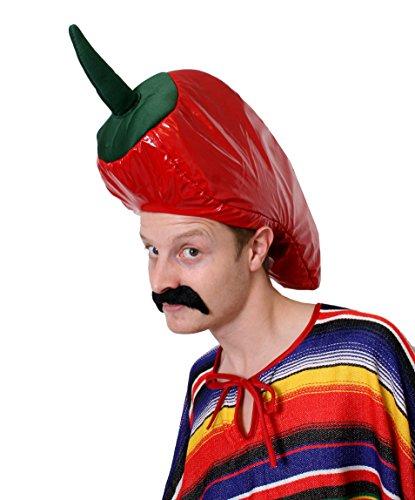 Disfraz de chile mexicano con sombrero de pimienta para disfraz de chile
