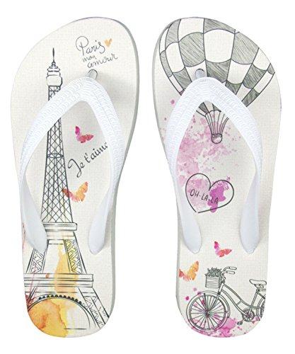 Geschenk für Verliebte - Zehentrenner im Design Paris - Je T'Aime! für den Bräutigam (43/44)