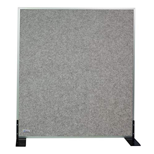 Horch Akustik Stellwand, Pinnwand, mit Aluminiumrahmen, Schallabsorber, Trennwand, Büroausstattung, Marmorgrau 1,2m x 1,4m