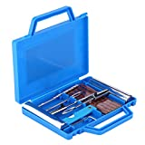 Broco 7pcs Kit de Reparación de Neumáticos, kit de Herramientas para Reparar Pinchazos en Neumaticos con Maleta azul kit de reparación de diagnóstico de neumáticos
