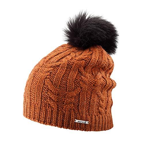 Bonnet de ski nordique et de randonnée Salomon, unisexe, IVY BEANIE, Orange (Umber), taille unique, L40358100
