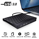 External DVD Drive, DEEPOW USB 3.0 Portable External CD DVD Drive Rewriter Burner