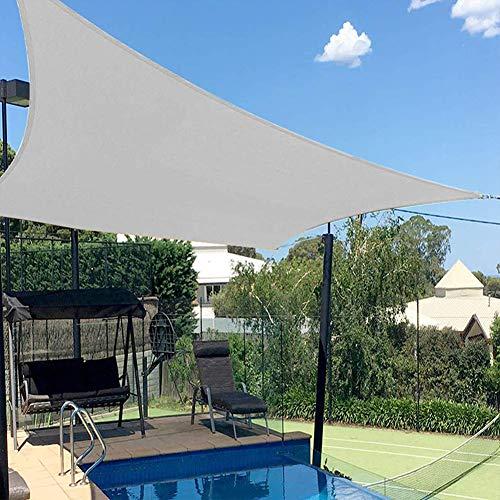 GJXJY Toldo Vela de Sombra Rectangular 3x5 M Protección Rayos UV y Poliéster Impermeable para Jardín Patio Exteriores