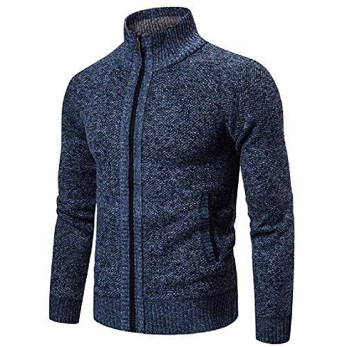 Hombres Suéteres Otoño Invierno Caliente Suéter Chaquetas Cardigan Abrigos Ropa Masculina Casual Prendas de Punto