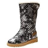 Zapatos de nieve de moda para las mujeres botas casuales botines...