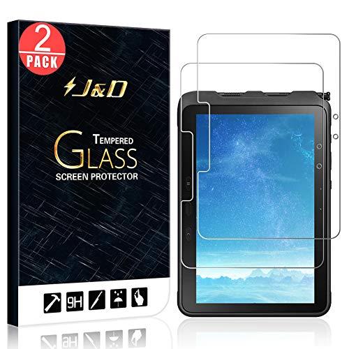 J&D Compatible para Samsung Galaxy Tab Active Pro Protector de Pantalla, 2-Pack [Vidrio Templado] [NO Cobertura Completa] Cristal Templado Protector de Pantalla para Galaxy Tab Active Pro