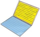 Betzold 86570 - Lese-Magnetbox mit 213 Buchstaben-Blöcken - Lernspielzeug Lesen Lernen Lesebox Deutsch-Unterricht Kinder Grundschule