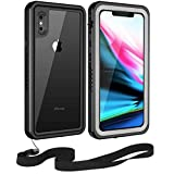 Moskee iPhone X Waterproof Case,High Precision Upgraded IP68 Full Body Underwater Protective Case with Sensitive Fingerprint(Wireless Charging Supported)