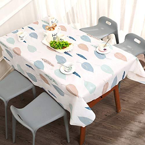 Gpure Mantel Antimanchas Impermeable,90 x 137cm Comedor Mesa Rectangular No Lavar PVC 4 Colores Impresión Dibujos Individuales para Casa Interior Cocina Navideña Decoración (C)