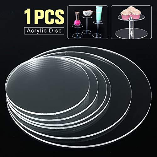 NO LOGO 1pc 3mm Klar extrudiertem Acryl Kreis-Ohrring mit Loch Acrylscheiben-Korn-Plexiglas for Bilderrahmen DIY Fertigkeit CD-Racks (Größe : 150mm)
