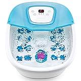 Baño de pies, 16 rodillos de masaje Shiatsu, baño de pies con calefacción, control de temperatura, piedra de afilar pedicura y vibración 3 en 1, apagado automático para uso doméstico