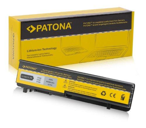 PATONA Batterie adapté pour Laptop/Notebook Dell M905P, M905P, M909P, N855P, N856P, OW077P, U150P, U164P, W080P, Studio 1745, Studio 1747, Studio 1749 Li-ION, 4400mAh, Noir