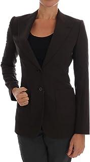 Brown Wool Cotton Two Button Blazer Jacket
