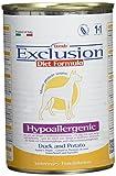 Exclusion Diet Ipoallergenico Anatra e Patata, confezione da 24 (24 x 400 g)