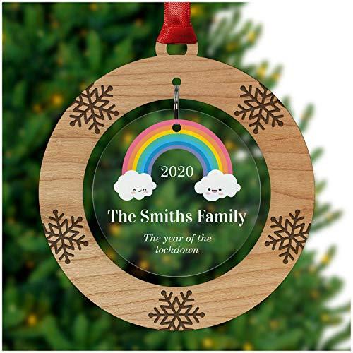 Personalised Christmas Lockdown 2020 Bauble Keepsake -...