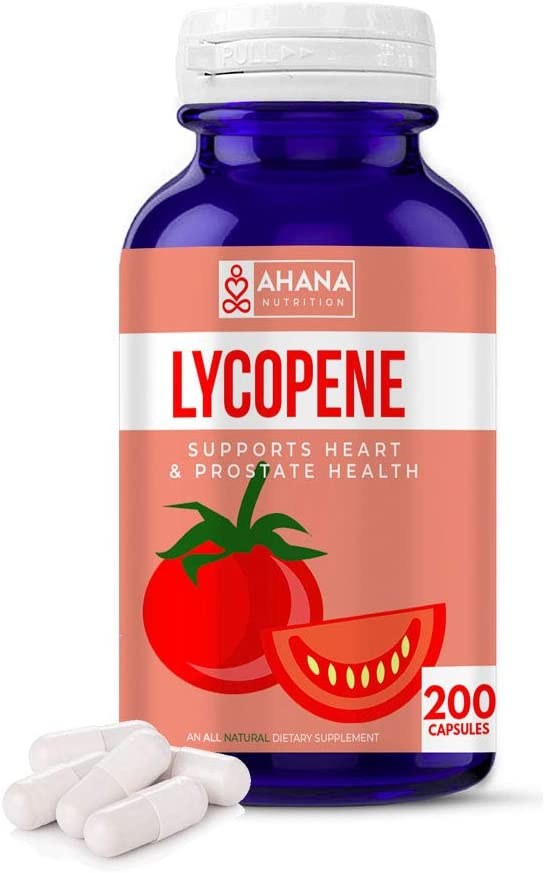 Excellent Ahana Nutrition Lycopene New item 10mg Capsules Prostate - Suppor Health