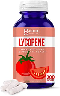 Ahana Nutrition Lycopene 10mg Capsules - Prostate Health, Supports Eye Health & Vision, Heart Health, Maintains Blood Pres...