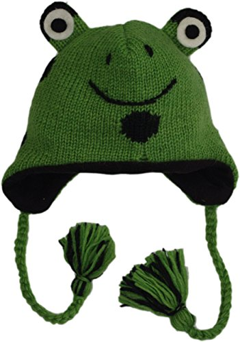 adult wool frog hat