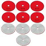 Herramienta de pulido Discos de lijado duraderos de grano 500 10 piezas para pulido de hormigón