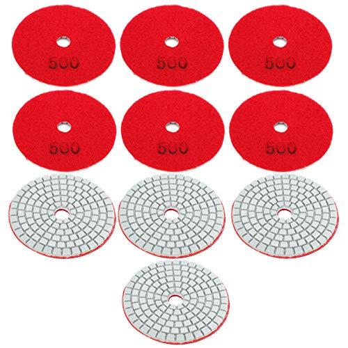 Herramienta de pulido de respaldo de pulido rojo duradero de 10 piezas para pulido de piedra