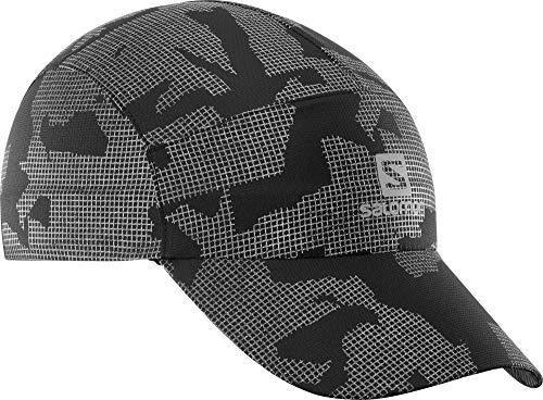 Salomon, Leichte Laufkappe, REFLECTIVE CAP, Unisex, Reflektierend, Grau (Reflective)/Schwarz, Einheitsgröße, LC1179600