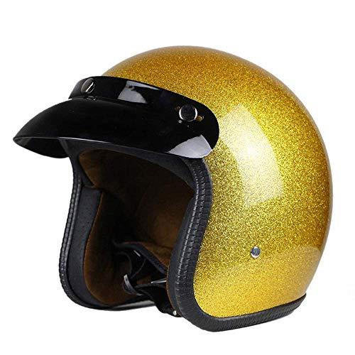 Casco De Moto Jet Amarillo  marca DFBGL