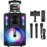 Karaoke Machine for Kids & Adults, SEAPHY DJ Lights 10'' Woofer BT Connectivity...