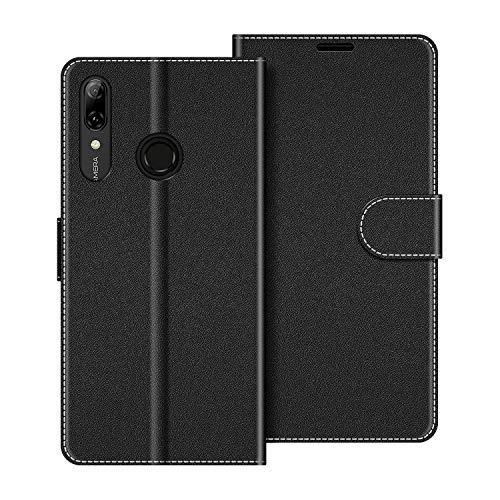 COODIO Custodia per Huawei P Smart 2019, Custodia in Pelle Huawei P Smart 2019, Cover a Libro Honor 10 Lite Magnetica Portafoglio per Huawei P Smart 2019 / Honor 10 Lite Cover, Nero