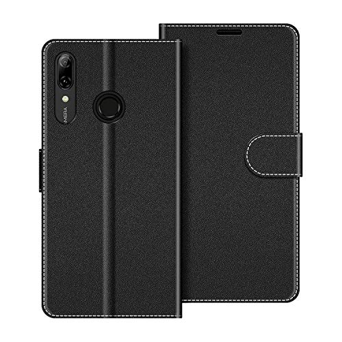COODIO Funda Huawei P Smart 2019 con Tapa, Funda Movil Huawei P Smart 2019, Funda Libro Honor 10 Lite Carcasa Magnético Funda para Huawei P Smart 2019 / Honor 10 Lite, Negro