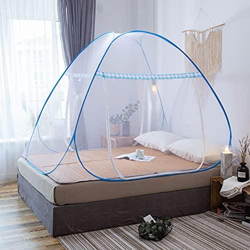 Riohouse Portable de voyage Moustiquaire Entièrement fermé Autonome pliable Moustiquaire Tente Camping Mosquito Rideau (180*200 cm)