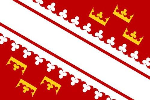 Michael & Rene Pflüger Barmstedt 8,4 x 5,4 cm Autoaufkleber Fahne vom Elsass Frankreich Flaggen Sticker Aufkleber fürs Auto Motorrad Handy Laptop
