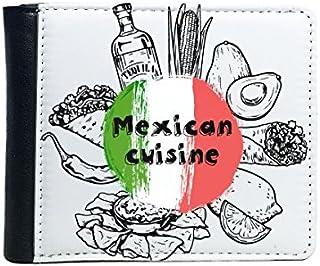 DIYthinker Cocina Mexicana México Cultura Boceto Tirón Plegable De Imitación De La Carpeta De Cuero De Múltiples Funciones...