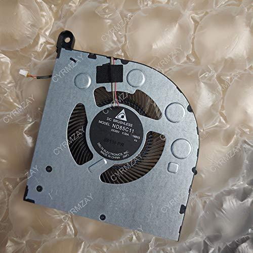 CYRMZAY Ordenador portátil Cooling Cooler Ventilador para Lenovo Legion Y730 Y740 Y9000K CPU Ventilador ND85C11-18B04