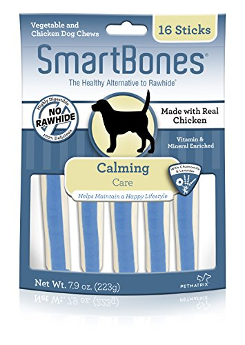 SmartBones Calming Care Sticks 16 Count, Rawhide-Free Chews For Dogs, With Chamomile And Lavender, 7.9 ounce, package may vary