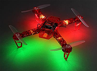 HK FPV250 V4 Red Ghost Edition LED Night Flyer FPV Drone - Red - KIT ONLY