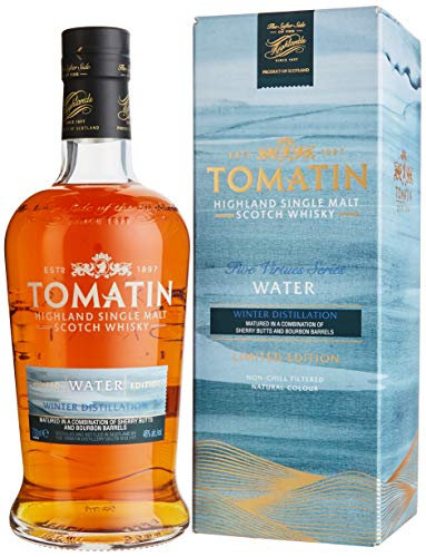 Tomatin WATER Winter Distillation Five Firtues Series Limited Edition mit Geschenkverpackung (1 x 0.7 l)