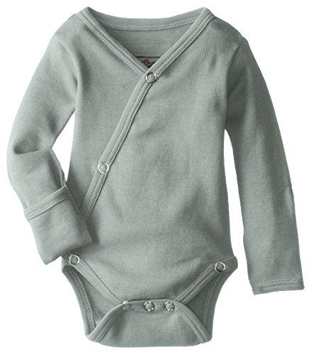 Product Image of the L'ovedbaby Unisex-Baby Organic Cotton Kimono Long Sleeve Bodysuit, Seafoam, 0/3...