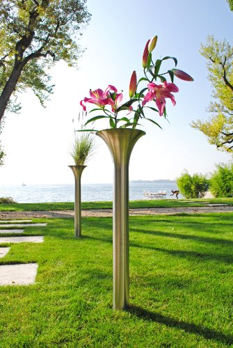 XXD Opera stor trädgårdsvas av rostfritt stål eller trädgårdsgrind