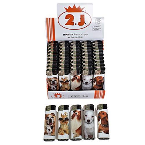 2J Mechero electrónico, 50 mecheros eléctricos recargables, para fumadores de puros, cigarrillos, tubos, enrollado o para encender bujías de chimenea, estufa de leña BBQ