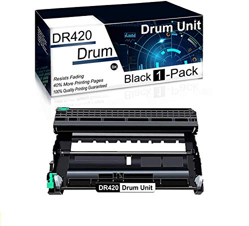 (1Pk,Black) Compatible DR420 Drum Unit Used for Brother MFC-7240 MFC-7360N MFC-7365DN Intellifax 2840 Intellifax 2940 DCP-7060D DCP-7065D HL-2240D HL-2132 HL-2280DW Printer Toner Cartridge.