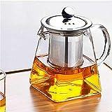 Fangesang Contenitore per tè e caffè in Vetro Trasparente Resistente al Calore, Resistente al Calore, 350 ml