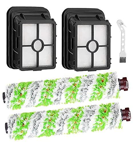 Remplacement des filtres en rouleau de brosse pour animaux de compagnie Machine-Ya multi-surfaces compatibles avec les aspirateurs eau et poussière Bissell CrossWave 2306 2303 2328 2551 - Paquet de 4…