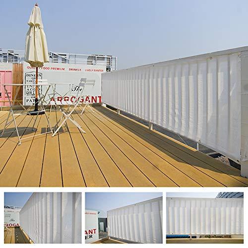 Velas de Sombra Toldos de Tela de Sombra Blanca Al Aire Libre Pérgola con Ojales y Red, 80% de Cortinas Anti-UV Velas Tela para Exterior/Jardín/Balcón/Césped (Size : 4×5m)
