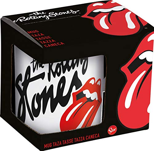 for-collectors-only The Rolling Stones Tasse Classic Tongue Logo Keramik Becher Kaffeetasse White Mug