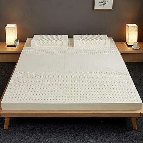 PLOLLD 100% de látex Natural colchón Topper, Tatami Premium Hotel futón colchón Transpirable for el Alivio del Dolor de Espalda (Size : Twin-90×200cm)