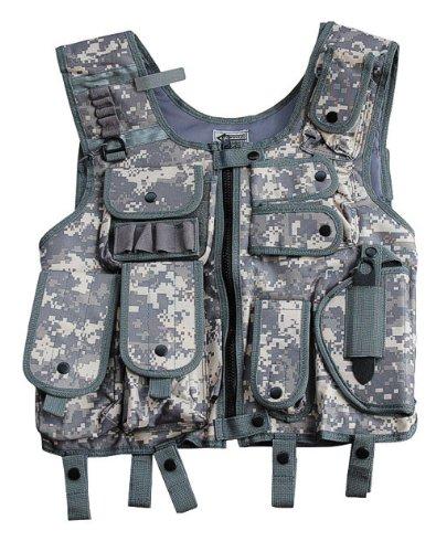 CI en plein air SWAT I Utilisation Gilet avec Étui Sécurité Paintball Camo ACU - camouflé - XXL
