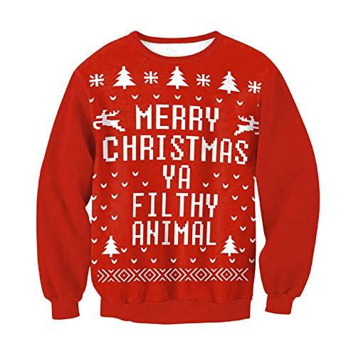 Weihnachten Plus Size Damen Round Neck Loose Pullover Damen Pullover Top