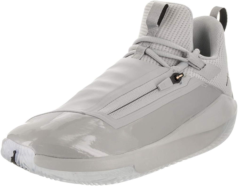 Jordan Mens Jumpman Hustle Synthetic Mesh Smoke Grey Black Trainers 9 US